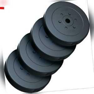 ScSPORTS® 40 kg Hantelscheiben Set 4 x 10 kg Hantel Gewichte 30 mm Kunststoff