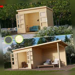 Karibu Wacken Gartenhaus Gerätehaus 28 mm Geräteschuppen Blockhaus Holz Schuppen