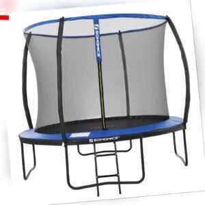 Sports Trampolin Ø 305 cm rundes Gartentrampolin mit Sicherheitsnetz TÜV STR10BK
