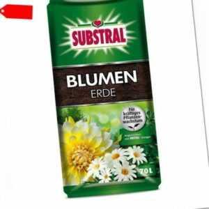 (0,28€/1l) SUBSTRAL® Blumenerde 70 l Blumen Erde Garten Kübel Töpfe Dünger
