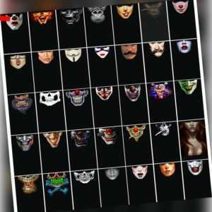 PiWear® Schlauchschal Rutschfest Mund Motorrad Gesichts-Maske Halstuch Fahrrad