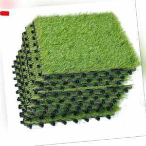 HIGHLIVING 40mm Kunstrasen Teppichrasen,Realistische Grüne Gartenmatte