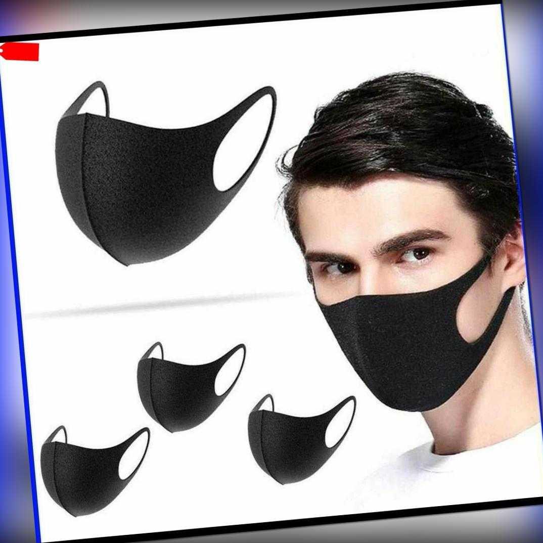 Gesichtsmaske Behelfsmaske 5er Set Maske waschbar Mund und Nasen Maske