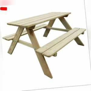 vidaXL Holz Imprägniert Kinder Picknicktisch Bank Sitzgruppe Gartengarnitur