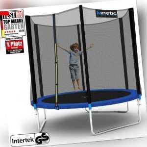Kinetic Sports Outdoor Trampolin Gartentrampolin mit Netz Randabdeckung 250 cm