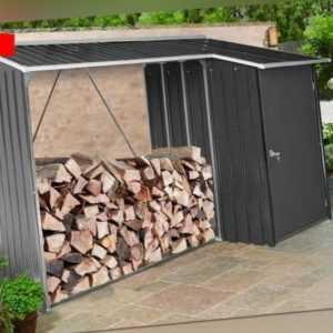 Tepro Kaminholzregal Holzunterstand Aufbewahrungsschrank Brennholzregal Neu