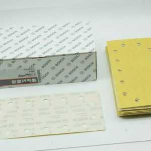 50x Bosch Schleifblatt für Schwingschleifer Klett P320 115x230mm C470 2608608663