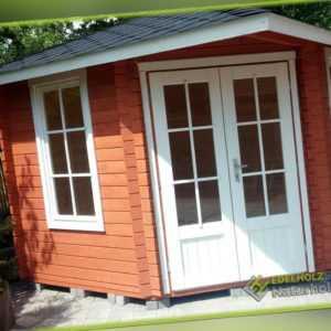 5-Eck Gartenhaus Blockhaus, Pavillon 3x3M 5-Eckige Holz 40mm Leonie EB40022F18