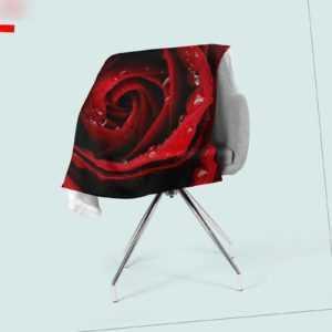 Foto-Kuscheldecke rote Rose bedruckte Wohndecke mit Motiv