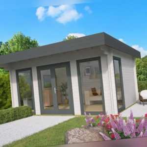 44mm Gartenhaus 500x380 cm Gerätehaus Holzhaus Holz Blockhaus Schuppen Hütte Neu