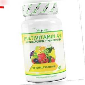 Multivitamin A-Z 120 Tabletten - 32 Wirkstoffe - Vitamine Mineralien Aminosäuren