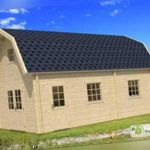 70 mm Wochenendhaus Maipo (400x700) Lasita Maja Gartenhaus Blockhaus Holz