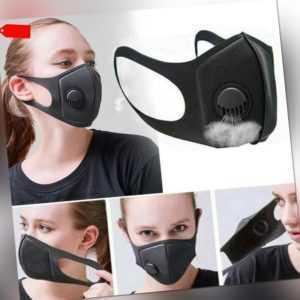 1xWaschbar Atemschutz-Gesichtsmaske Mundschutz Aktivkohlefilter Wiederverwendbar