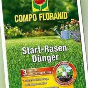 COMPO FLORANID® Start-Rasen Langzeit-Dünger 5 kg für 250 m²