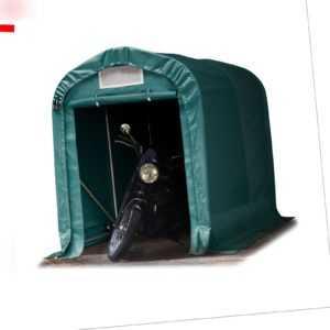 Zeltgarage Lagerzelt Unterstand 1,6x2,4 m PVC Plane  550g/m² dunkelgrün NEU