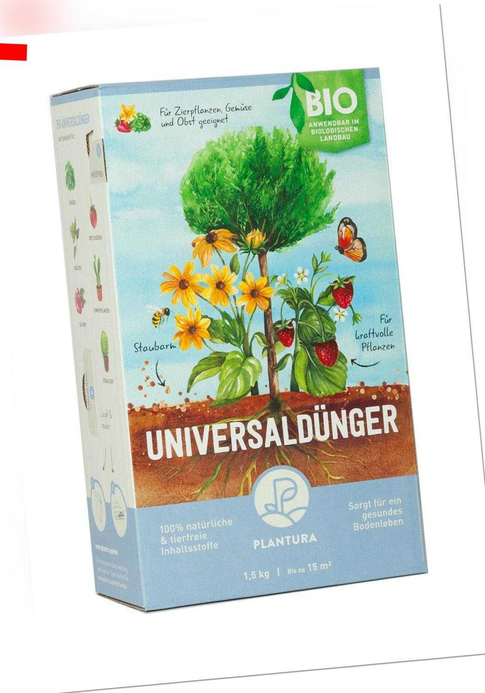 Plantura Bio Universaldünger mit Langzeitwirkung, für kraftvolle Pflanze, 1,5 kg