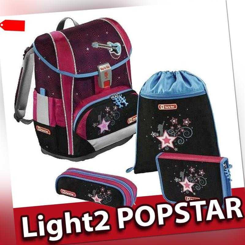 Step by Step Light 2 Schulranzen Set Popstar 4 teilig Ranzen NEU und OVP