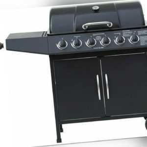 El Fuego Gasgrill Dayton schwarz 6+1 Brenner Grillwagen Grill