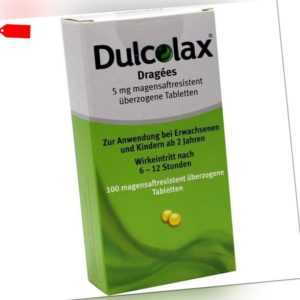DULCOLAX Dragees magensaftresistente Tabletten  100 st   PZN7261407