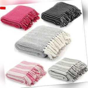 Wohndecke Kuscheldecke Tagesdecke Sofaüberwurf Baumwolle