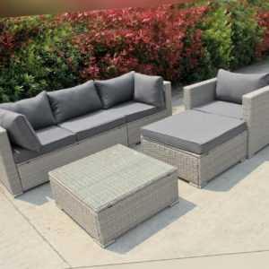 Poly Rattan Gartenmöbel Lounge Möbel Sofa Sitzgarnitur Gartengarnitur Sitzgruppe
