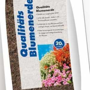 (0,45€/1l) Qualitäts-Blumenerde 20 l Sack Erde Boden Garten Blume Blumenerde