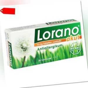 LORANO akut Tabletten 20 St 07222502