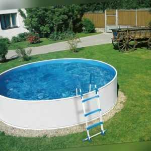Stahlwandpool 3,60m x 0,90m Aufstellpool Rundpool Swimmingpool Poolfolie Leiter