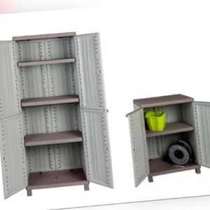 2 x Kunststoffschrank Gartenschrank Schrank Balkonschrank Haushaltsschrank