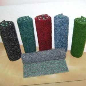 Kunstrasen Rasenteppich 200 cm Breite in 6 Farben z. B. blau, grau, dunkelrot