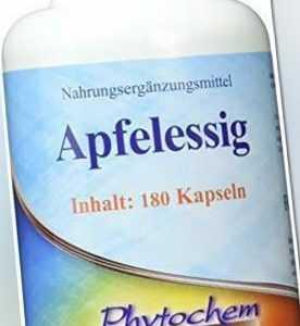 | 495 mg Apfelessig Pulver pro Kapsel | 180 Kapseln | Premium Qual…