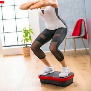 Vibrationsplatte Slim mit Fernbedienung & Expanderbänder Trainingsgerät