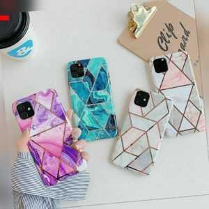 Marmor Hülle Für iPhone 11 / Pro / Max Schutz Handyhülle Cover Case + Schutzglas