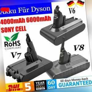 4000mAh 6000mAh 21.6V Akku Batterie Für Dyson V8 V7 V6  Lithium-Ionen Sony Cell