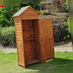 Outsunny Holz Gartenhaus Gerätehaus Gartenschrank Geräteschuppen Geräteschrank
