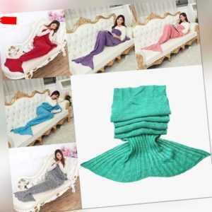 Mermaid Wool Knitting Color Mesh Crochet Sofa Covers Air