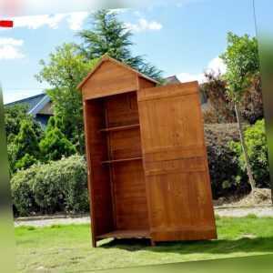 Holz Gerätehaus Geräteschuppen Gartenschrank Geräteschrank Gartenhaus 2 Regal