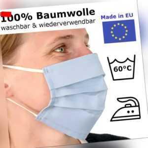Nasenmaske Mundbedeckung Stoffmaske Gesichtsmaske waschbar Baumwolle Mundschutz