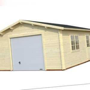 Palmako Garage Holzgarage ROGER 23,9, Sektionaltor, 470x570cm, 44mm Bohlen ISO