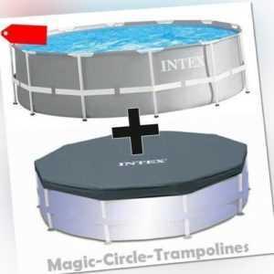 INTEX Prism Frame Swimming Pool Schwimmbecken Schwimmbad 305 cm mit Abdeckplane
