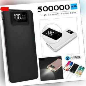 Powerbank 500000mAh 2 USB LED LCD External Charger tragbare Batterie Für Phone
