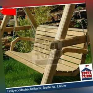 Hollywoodschaukel Bank Natur aus Holz Gartenmöbel Gartenbank OHNE Gestell NEU
