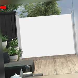 vidaXL Seitenmarkise Ausziehbar 170x500cm Creme Sonnenschutz Sichtschutz