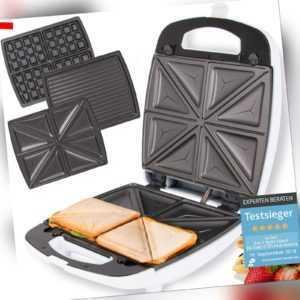 Sandwichmaker Sandwichtoaster Waffeleisen 3 in 1 elektro...