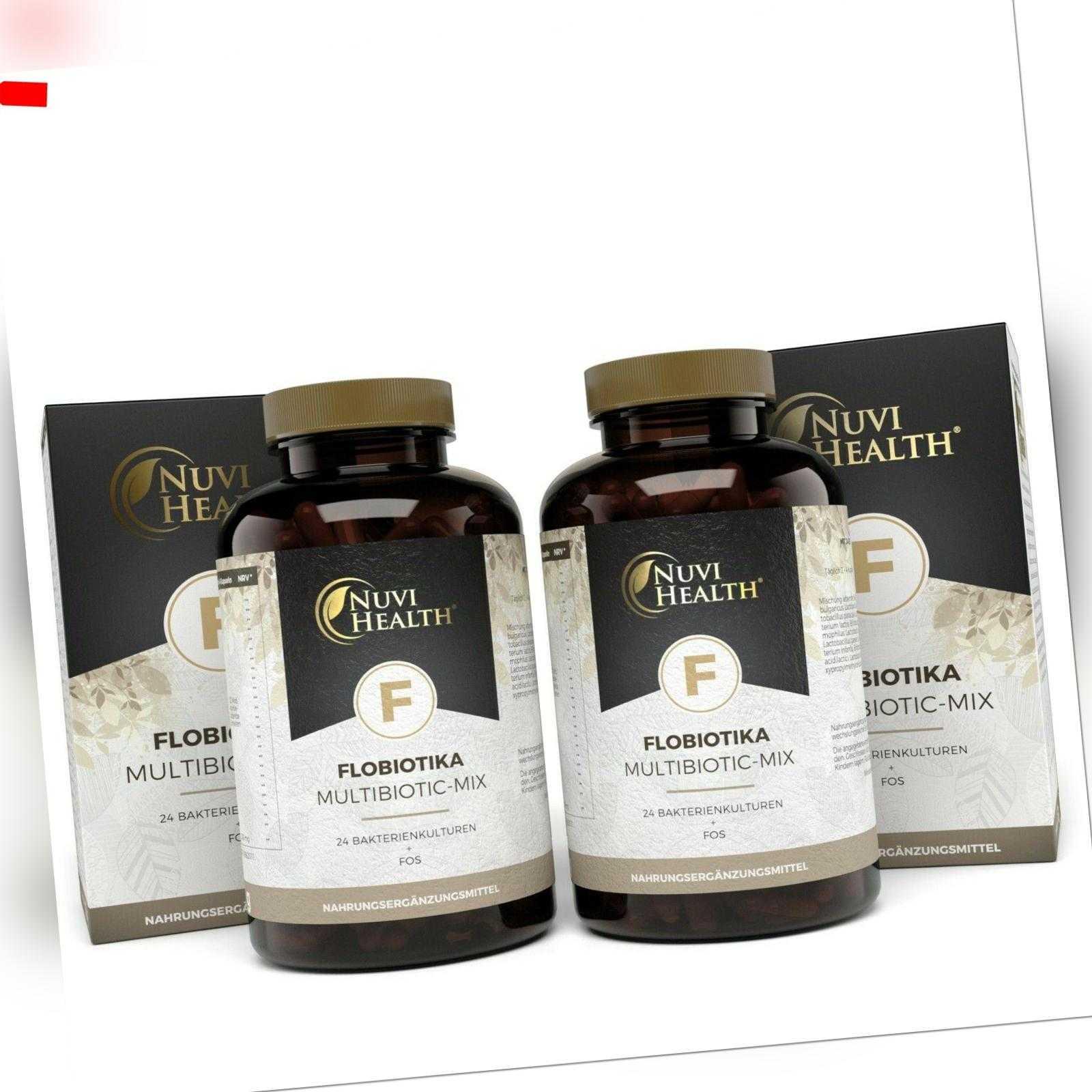2x Flobiotika - 120 Mrd KBE je Tagesdosis Probiotica Darmflora = 240 Kapseln (v)