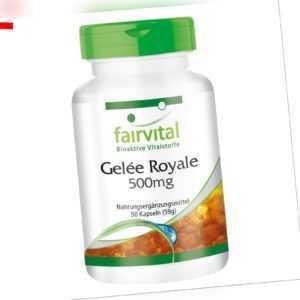 Gelee Royale 500 mg 90 Kapseln | 4% 10-DHA (10-Hydroxy-2-Decensäure) | fairvital