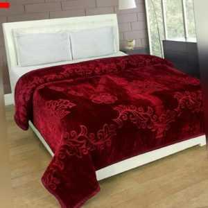 Indisches Blumenmuster Geprägt Nerz Doppelbett Decke für Schwer