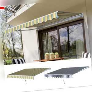Markise Handkurbel Gelenkarmmarkise Sonnenschutz Balkon Alu 2,95x2,5m 2 Farben