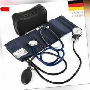 Manuelle Blutdruckmanschette Aneroid Blutdruckmessgerät +Stethoskop +Tragetasche