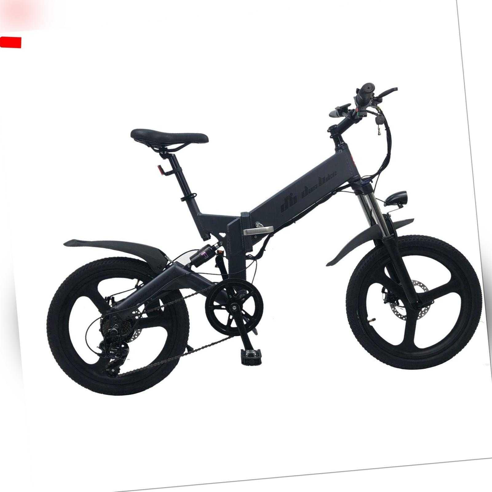 DAS.BIKE 20 Zoll E-Faltrad Ebike Elektrofahrrad ALU  7 Gang-Shimano VOLLFEDERUNG